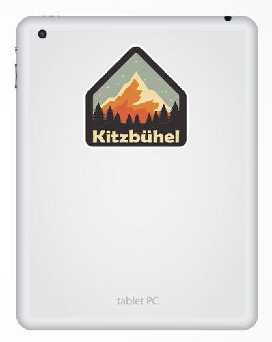 Ski Mountain Luggage Sticker #31215 2 x 10cm Kitzbuhel Austria Vinyl Stickers