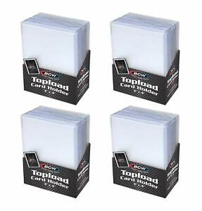 Trading-Card-Sleeves-Hard-Plastic-Topload-Clear-Case-Holder-100-Baseball-Cards