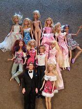barbie dolls lot of 12 (2 Ken dolls)