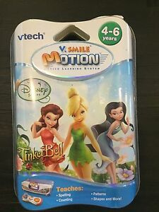 Vtech-V-Motion-Disney-Fairies-Tinker-Bell-v-smile-learning-system-NEW