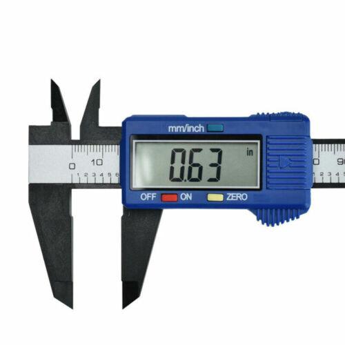 Digital 0-150mm Vernier Caliper Carbon Fiber Micrometer Gauge Electronic Ruler