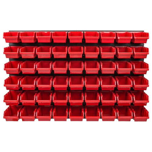 Stapelboxen Set 4x Wandregal Lagersystem 54 Boxen 1152 mm x 780 mm