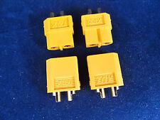 2 Pair XT60 XT-60 pr Male Female Battery Connectors Plug End Airsoft ESC charge