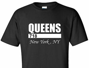QUEENS-718-T-SHIRT-NEW-YORK-CITY-NYC-URBAN-NY-SWAG-NEW-YORKER-TEE-BLACK-SHIRT