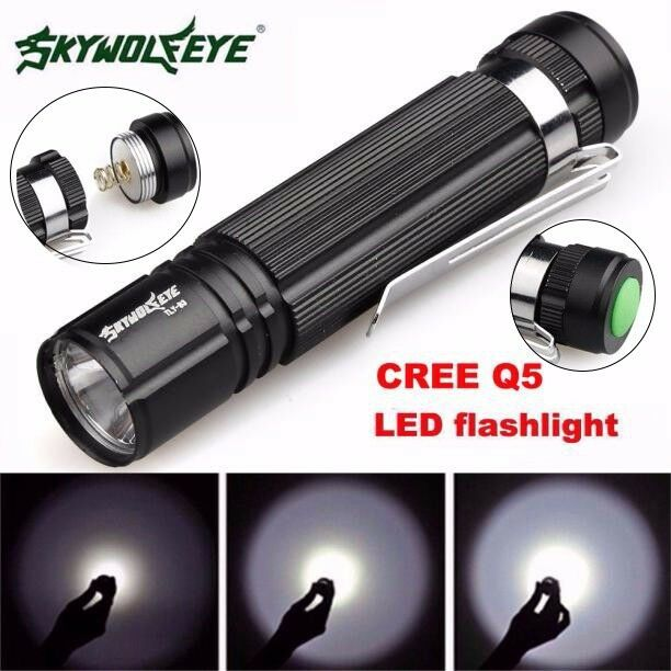 NEW 7W CREE Q5 LED 1200lm Mini Flashlight Torch Light 14500/AA Lamp Waterproof