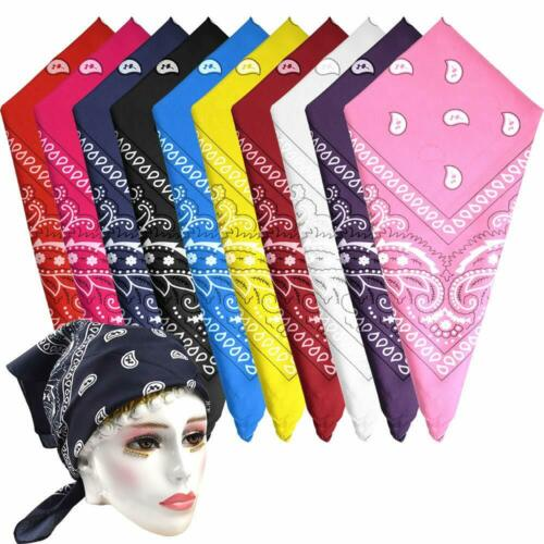 Pack of 2 Cotton Paisley Bandana Multifunction Headbands,Handkerchiefs,Scarfs.