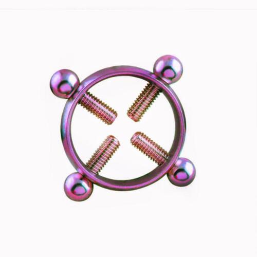1//2 Non Pierced Clip Nipple Ring Adjustable Shield Cover Clamp Non Body Piercing