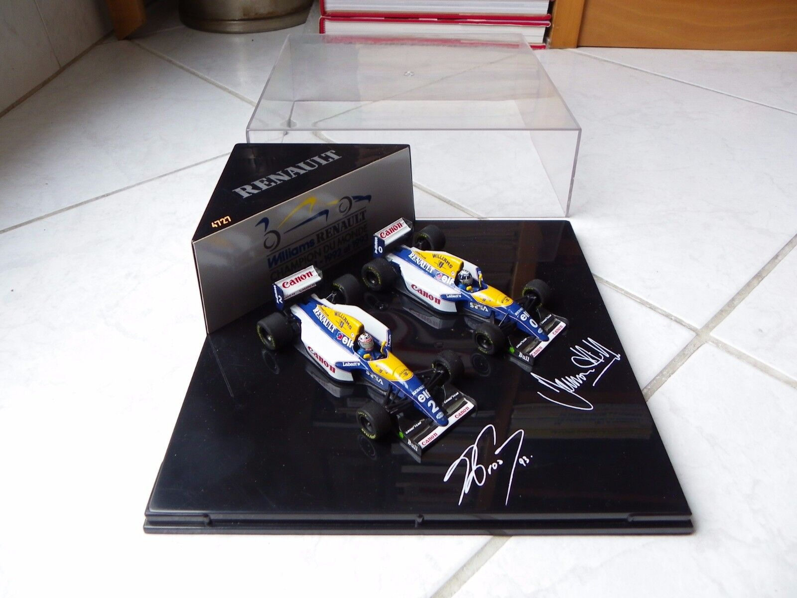 Caja Williams Renault Fw15c Set Alain Prost Hill Onyx 1 43 1993 F1 Champion