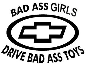 Boys Drive Bad Toys Decal Window sticker Car RV Hunting Outdoor Vinyl Decal