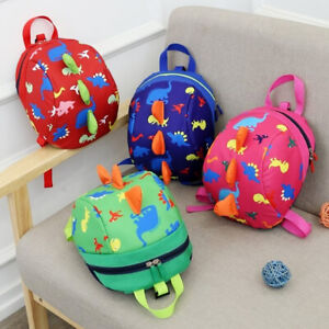 Unsex-Cute-Toddler-Kids-Baby-Mini-Backpack-Cartoon-Dinosaur-School-Bag-with-Rein