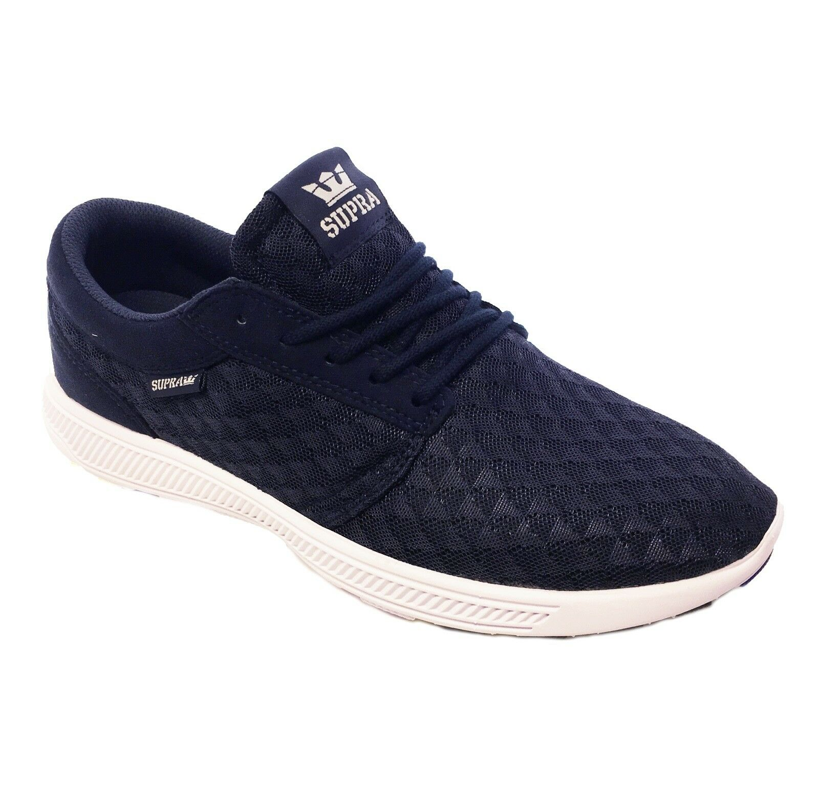 SUPRA Hammer Run Lightweight Mesh Trainer Sporty Gym Sneaker shoes Navy White