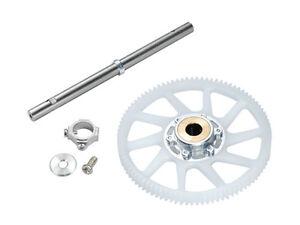 Microheli-Blade-130-S-Silver-Hub-W-Titanium-Shaft-amp-CNC-Delrin-Gear-MH-130S067X
