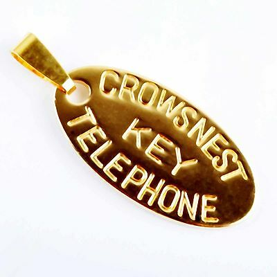 24K Gold Filled Chic key Pendant For collar necklace free shipping P0410