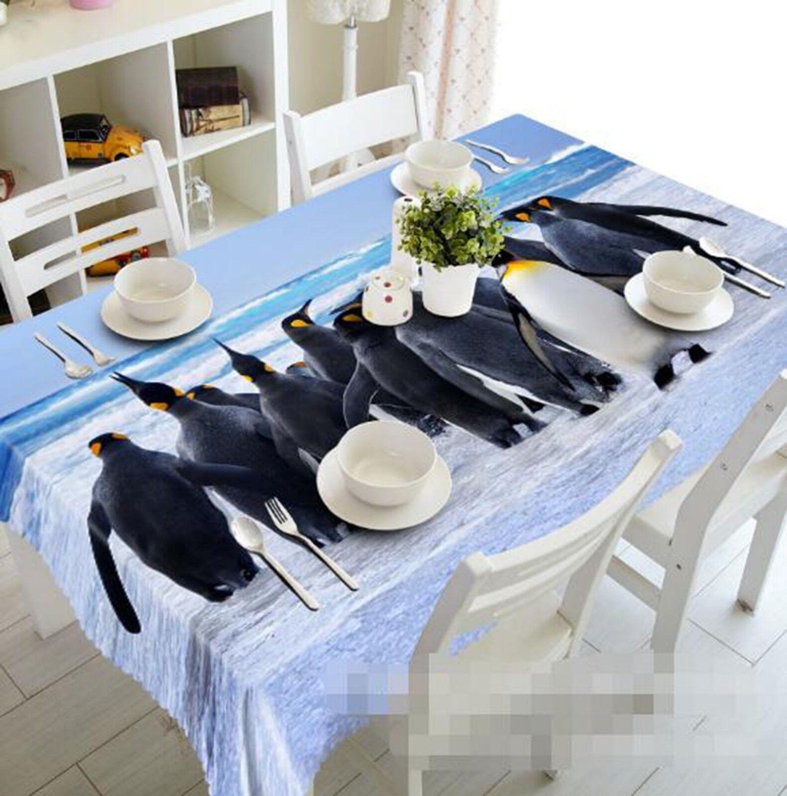 3D Penguin 021 Tablecloth Table Cover Cloth Birthday Party Event AJ Lemon
