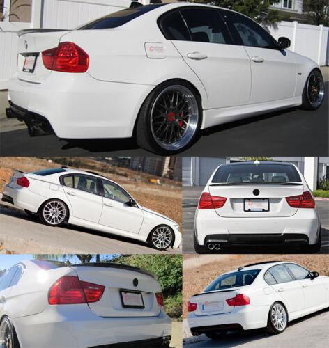 FOR 06-11 BMW E90 3 SERIES SEDAN M3 PERFORMANCE CARBON FIBER TRUNK SPOILER WING