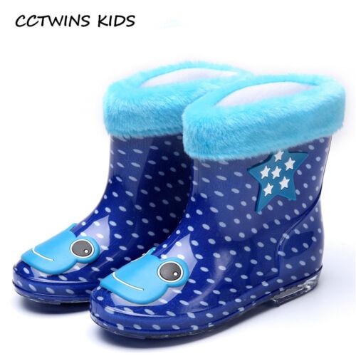 Unisex BOOTS Brand Waterproof Shoe Children PVC Baby Girl Blue Rain Boot Boy