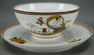 Details About 19th Century Italian Greek Mythology Rhea Cybele Goddess Tea Cup Saucer