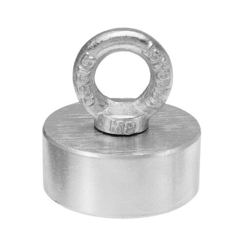 60x25mm 300kg Neodymium Recovery Magnet Metal Detector with Handle Ringscrew