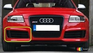 AUDI RS6 C6 08-10 GENUINE FRONT BUMPER LOWER RIGHT O/S GRILL BLACK