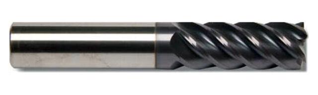 "5 Flute SE HP Carbide End Mill Variable Helix Long ALTiN 1//4/""DIA"