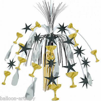 """24"""" New Year Silver Gold Black Celebration Party Hanging Cascade Decoration"""