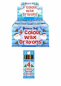 Christmas-Wax-Crayons-Kids-Party-Bag-Fillers-Toys-Lucky-Dip-Prizes-1-100-Packs