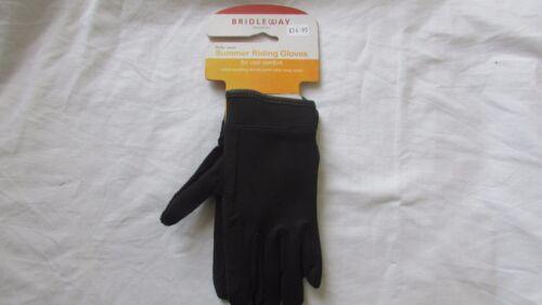 Genuine Bridleway summer horse riding gloves V438 equestrian black size xl BNWT