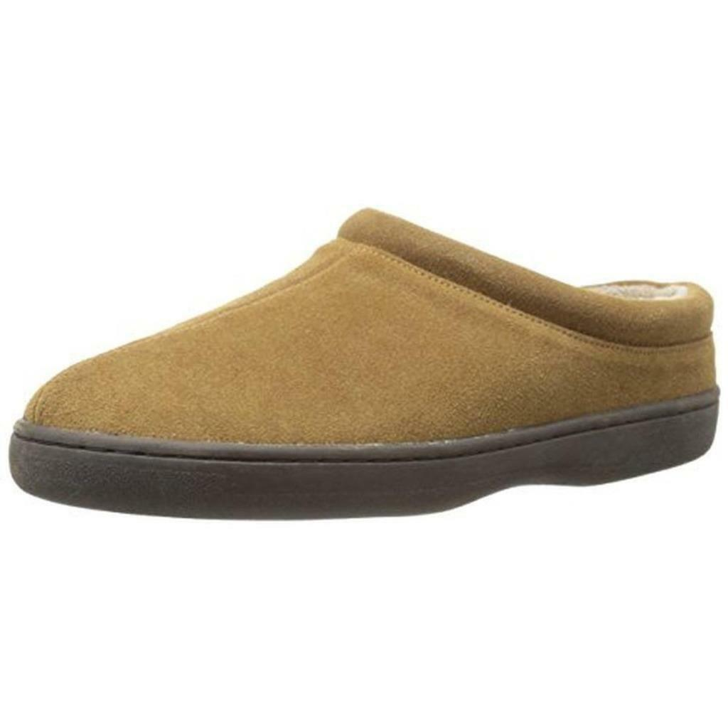 L.B. EVANS $69 MENS TAN SUEDE LEATHER RUBBER SOLE SHOES LOAFERS SLIPPERS 8 M NWT
