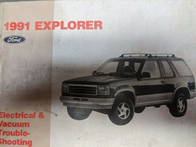 1991 Ford Explorer Electrical Wiring Diagram Service