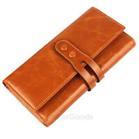 Brand New Women's Top Genuine Leather Wallet Clutch Purse Lady Long Handbag Bag