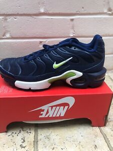 new style 21a43 3e04a Details about Nike Air Max Plus GS TNs UK 3.5 Blue White New Womens Kids  Mens
