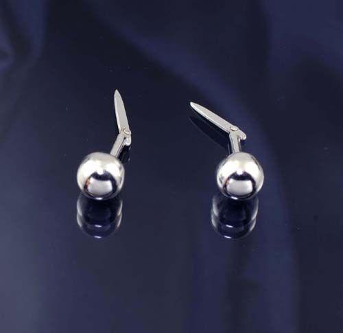 Sterling Silver 925 5mm Bead Andralok Stud Earrings.