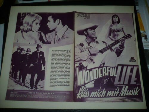 WONDERFUL TO BE YOUNG orig Austrian Film program Cliff Richard, Susan Hampshire