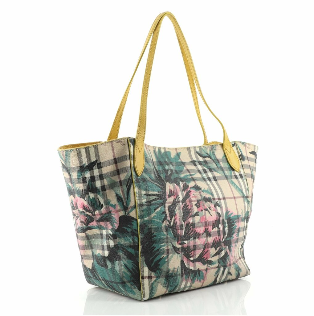 Burberry Canter Tote Printed Haymarket Coated Canvas Small  | eBay