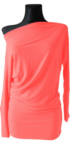 32 Sexi ladies Long Sleeve Batwing Baggy Jumper Jersey Stretch Tunic Top