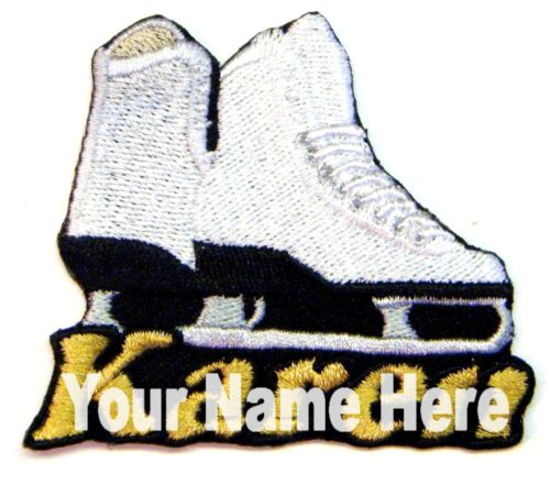 Ice Skate Custom Iron-on Patch With Name Personalized Free