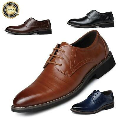 Men/'s Business Oxfords Leather Shoes Pointed Toe Formal Dress Casual Party Prom