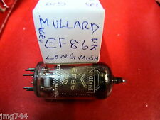 EF86 MULLARD LONG MESH SQUARE GETTER  USED OLD STOCK  VALVE TUBE O15A