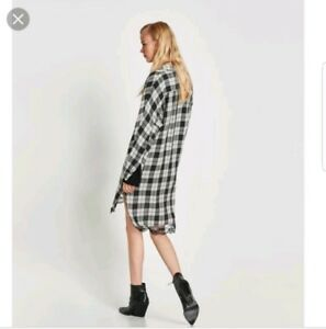 97e01061 zara at mango check shirt dress tunic party aab inayah xs 6 to 8 | eBay
