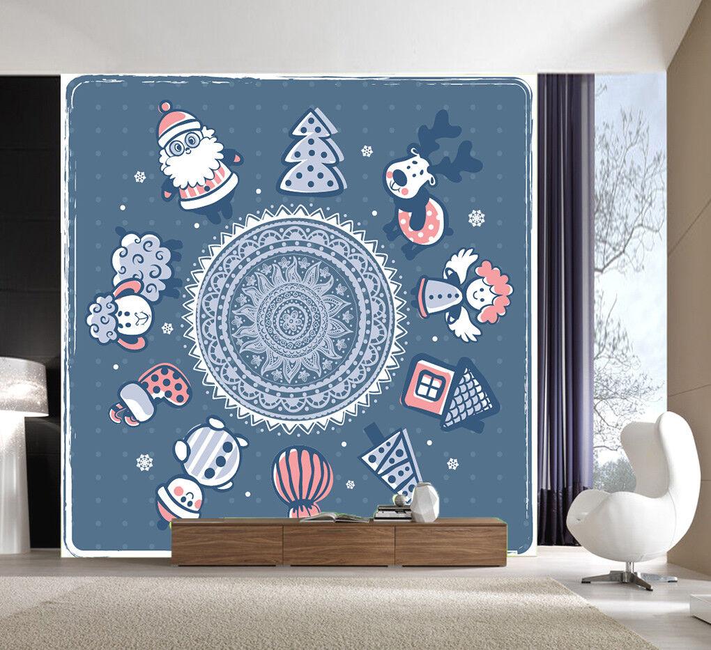 3D Blaue Weihnachten 47 Tapete Tapeten Mauer Foto Familie Tapete Wandgemälde DE