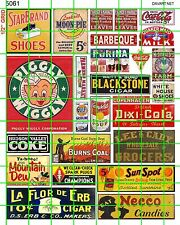 5061 DAVE'S DECALS GROCERY BBQ DIXI COLA SHOES CANDY FARMERS MARKET CIGARS CANDY