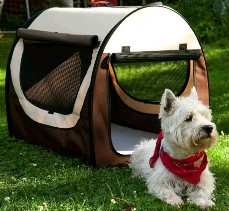 Folding  travel Pets Dog Cat Box Car Travel Carrier Home   size Small