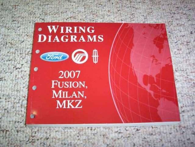 2007 Mercury Milan Electrical Wiring Diagram Manual I4 V6