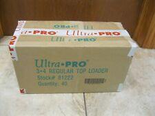 1000 sleeves 1000 Ultra Pro Regular 3x4 Toploaders sealed case New top loaders