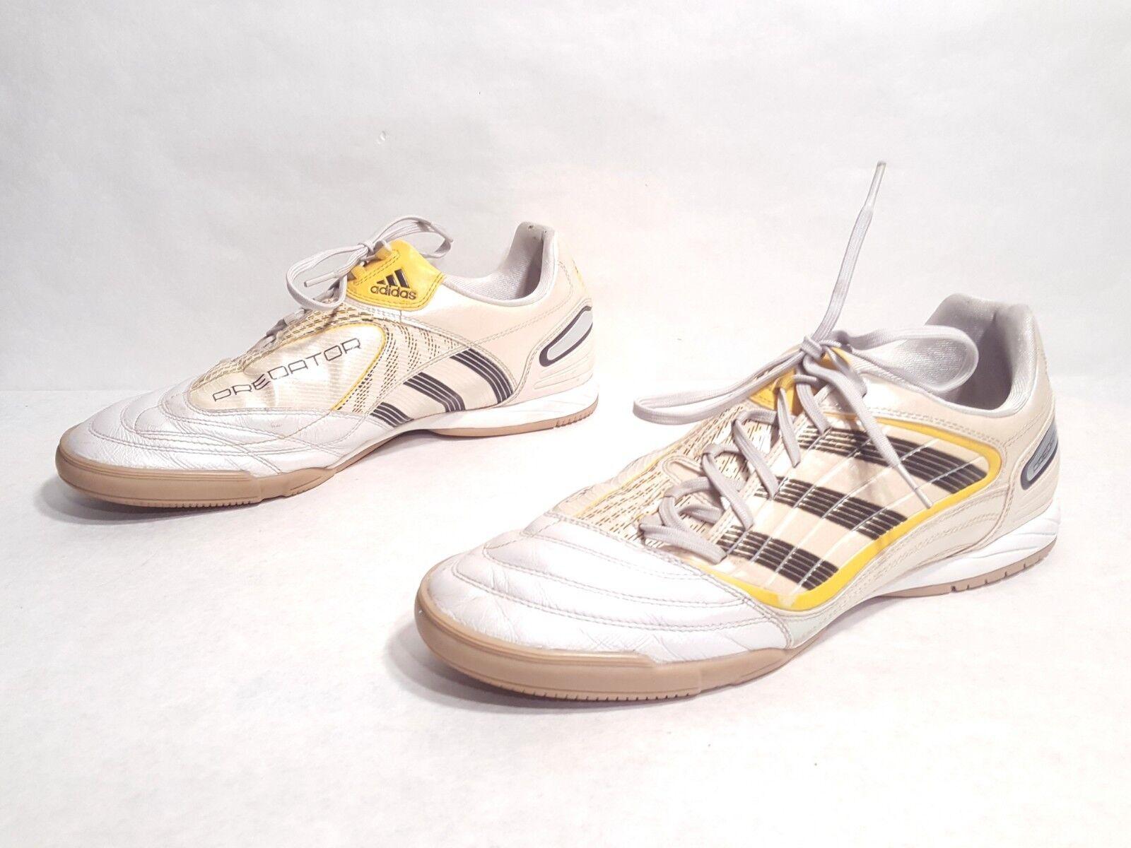 EUC Adidas Predator Absolado X Indoor Soccer shoes White Yellow US 11.5