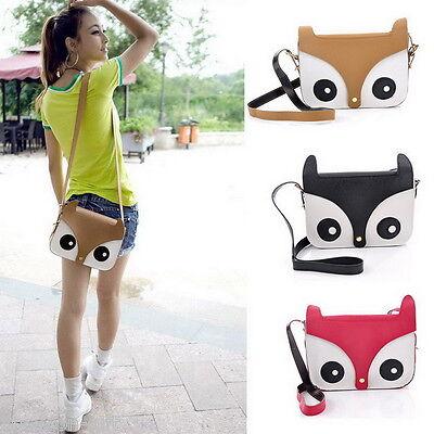 1PC Womens Retro Owl Fox PU Shoulder Bag Messenger Tote Purse Handbag M0583