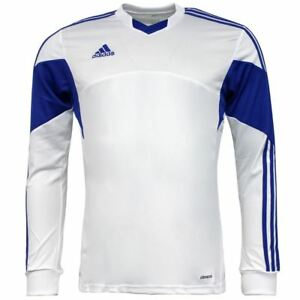 innovative design 8e32b 9cacc Image is loading Adidas-Tiro-13-LS-Climacool-White-Blue-Mens-