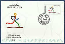 STATE OF QATAR 2016 MNH FDC FIRST DAY COVER NATIONAL SPORT DAY