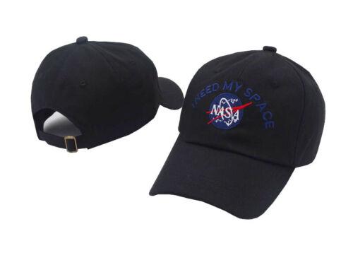 Mens I NEED MY SPACE NASA Embroidered Back Insignia Baseball Hat Snapback Cap