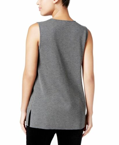 Fisher Crepe Størrelse Tank Nwt Lang Wool Ps Shell Eileen Roundneck Ash 178 wEETF7qS